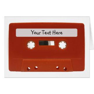 Cartão customizável vermelho da cassete de banda