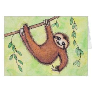 Cartão Cute Sloth