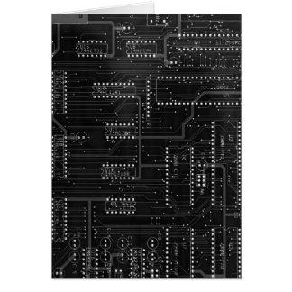 Cartão Cyber preto EBM industrial Techno do conselho de