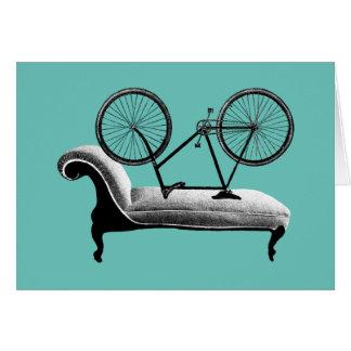 Cartão cycologist subtil dos presentes do ciclismo
