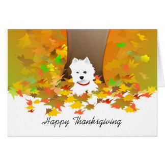 Cartão da acção de graças - acção de graças feliz