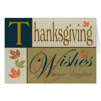 Cartão da acção de graças com folhagem de outono
