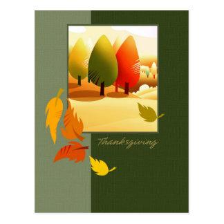 Cartão da acção de graças da paisagem do outono