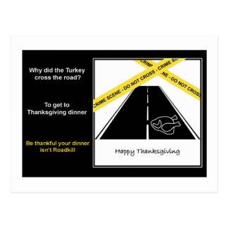 Cartão da acção de graças de Roadkill