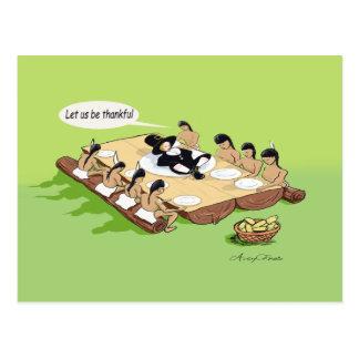 Cartão da acção de graças do nativo americano