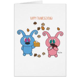 Cartão da acção de graças do outono de Rollys