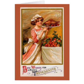 Cartão da acção de graças do vintage