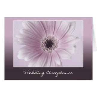Cartão da aceitação do casamento