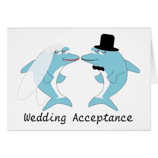 Cartão da aceitação do casamento do golfinho