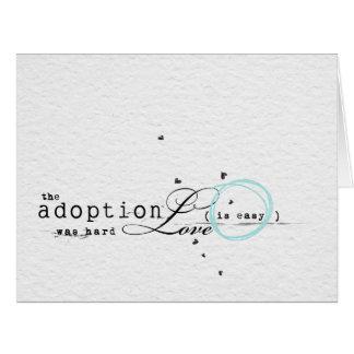 cartão da adopção dos congatulations