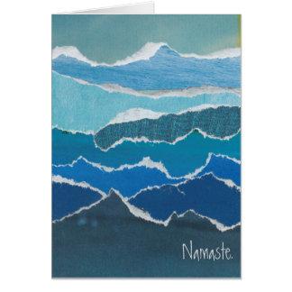 """Cartão da água azul de """"Namaste"""" pela urze Pierce"""