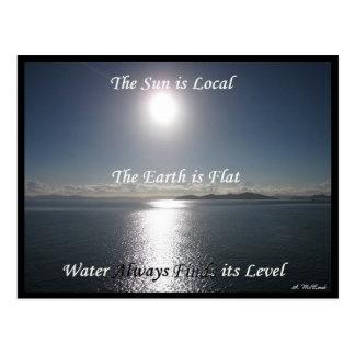 Cartão da água da terra de Sun - terra lisa Meme