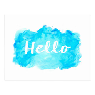 Cartão da aguarela - cerceta, turquesa, azul