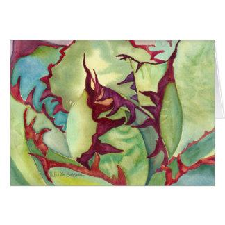 Cartão da aguarela da agave do Succulent