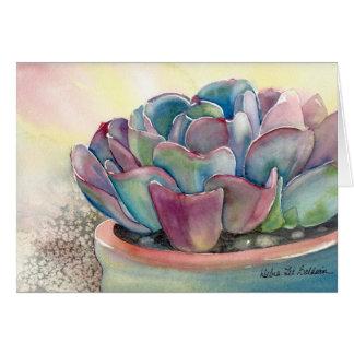 Cartão da aguarela de Echeveria por Debra Lee