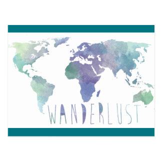 Cartão da aguarela do Wanderlust