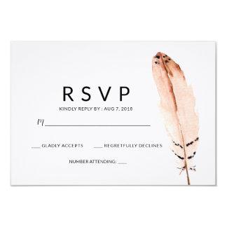 Cartão da aguarela RSVP da pena