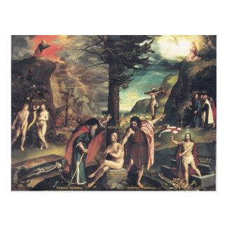 Cartão da alegoria de Holbein
