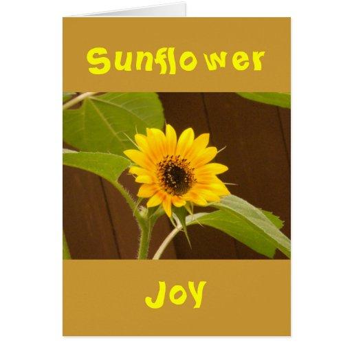 Cartão da alegria do girassol