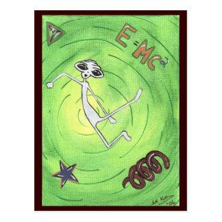 Cartão da alienígena de E MC2