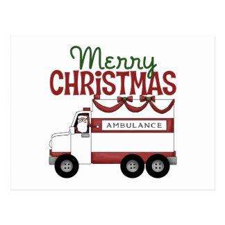 Cartão da ambulância/Natal do salvamento