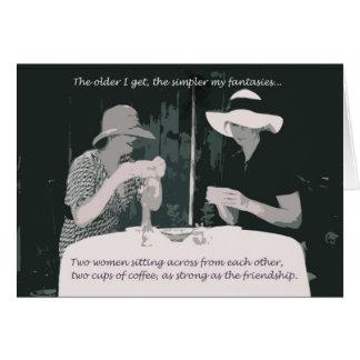 Cartão da amizade/aniversário para a mulher