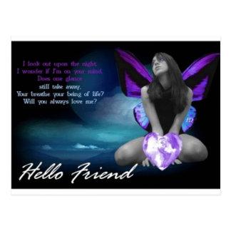 Cartão da amizade cartão postal
