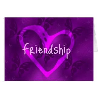 Cartão da amizade da borboleta