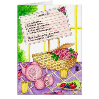Cartão da amizade do chá da amizade