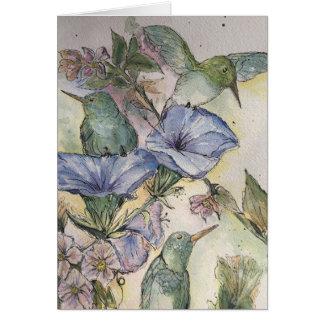 Cartão da amizade do colibri