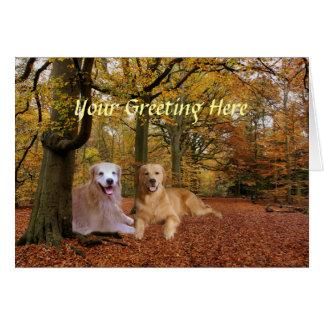 Cartão da amizade do golden retriever