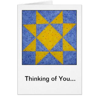 Cartão da amizade/simpatia do bloco da edredão