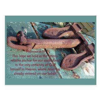 Cartão da âncora da alma