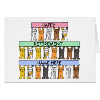 Cartão da aposentadoria a personalizar com algum
