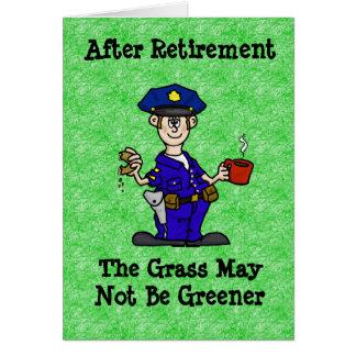 Cartão da aposentadoria da bobina do agente da