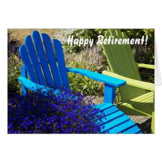 Cartão da aposentadoria de Lawnchair