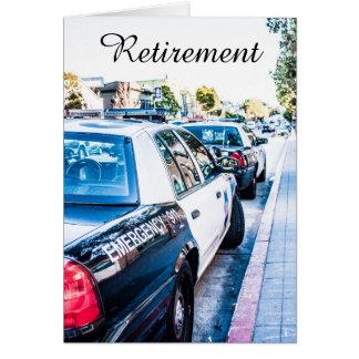 Cartão da aposentadoria do agente da polícia