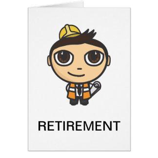 Cartão da aposentadoria do personagem de desenho