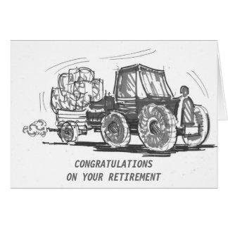 Cartão da aposentadoria do trator