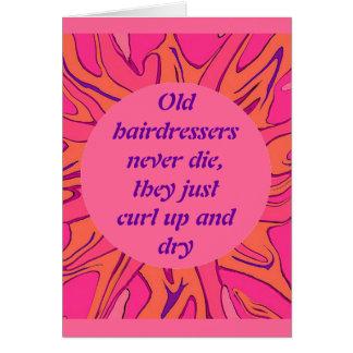 cartão da aposentadoria dos cabeleireiro