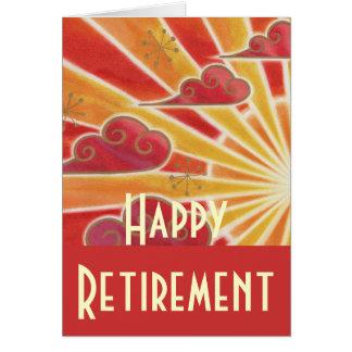 """""""Cartão da aposentadoria feliz"""" do por do sol Cartão Comemorativo"""