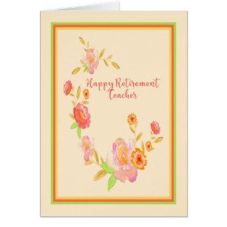 Cartão da aposentadoria para o pêssego do
