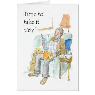 Cartão da aposentadoria para um homem