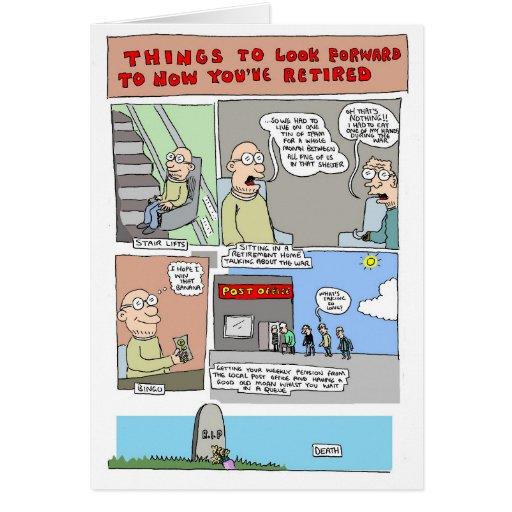 Cartão da aposentadoria por Sam Backhouse