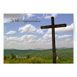 Cartão da apreciação do pastor