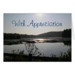 Cartão da apreciação do pastor da opinião do lago