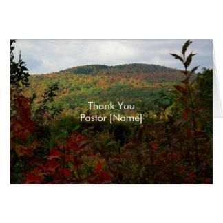 Cartão da apreciação do pastor da paisagem das