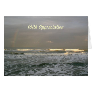 Cartão da apreciação do pastor do arco-íris das