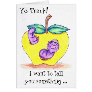 Cartão da apreciação do professor com Apple e o