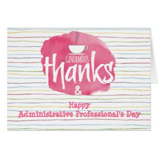 Cartão da apreciação do profissional